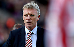 Sunderland manager David Moyes has a worried expression on his face as his side go into half time at Stoke City 2-0 down - Mandatory by-line: Robbie Stephenson/JMP - 15/10/2016 - FOOTBALL - Bet365 Stadium - Stoke-on-Trent, England - Stoke City v Sunderland - Premier League
