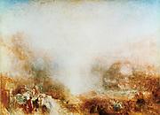 Mercury Sent to Admonish Aeneas' 1850.  Joseph Mallord Willliam Turner (1775-1851) English artist. Oil on canvas.
