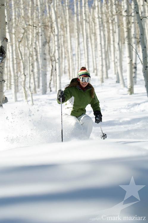 Jen skiing at Deer Valley, Utah USA
