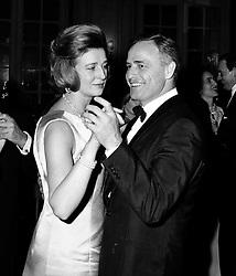 PRINCESS ALEXANDRA and MARLON BRANDO dancing at a party following the UK premier of 'A Countess from Hong Kong' held at The Savoy Hotel, London on 5th January 1967.