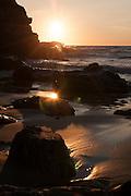 Porthtowan sunset waves