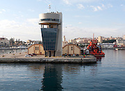 Port authority building at harbour entrance, Ceuta, Spanish territory in north Africa, Spain