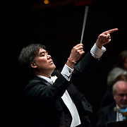 """November 21, 2013 - New York, NY : Conductor Alan Gilbert leads the New York Philharmonic in Bejamin Britten's """"Spring Symphony, Op. 44 (1948-49)"""" at Avery Fisher Hall at Lincoln Center on Thursday night. CREDIT: Karsten Moran for The New York Times"""