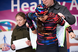 Lisa Klein (GER) earns the points jersey at Healthy Ageing Tour 2019 - Stage 4A, a 14.4km individual time trial starting and finishing in Winsum, Netherlands on April 13, 2019. Photo by Sean Robinson/velofocus.com