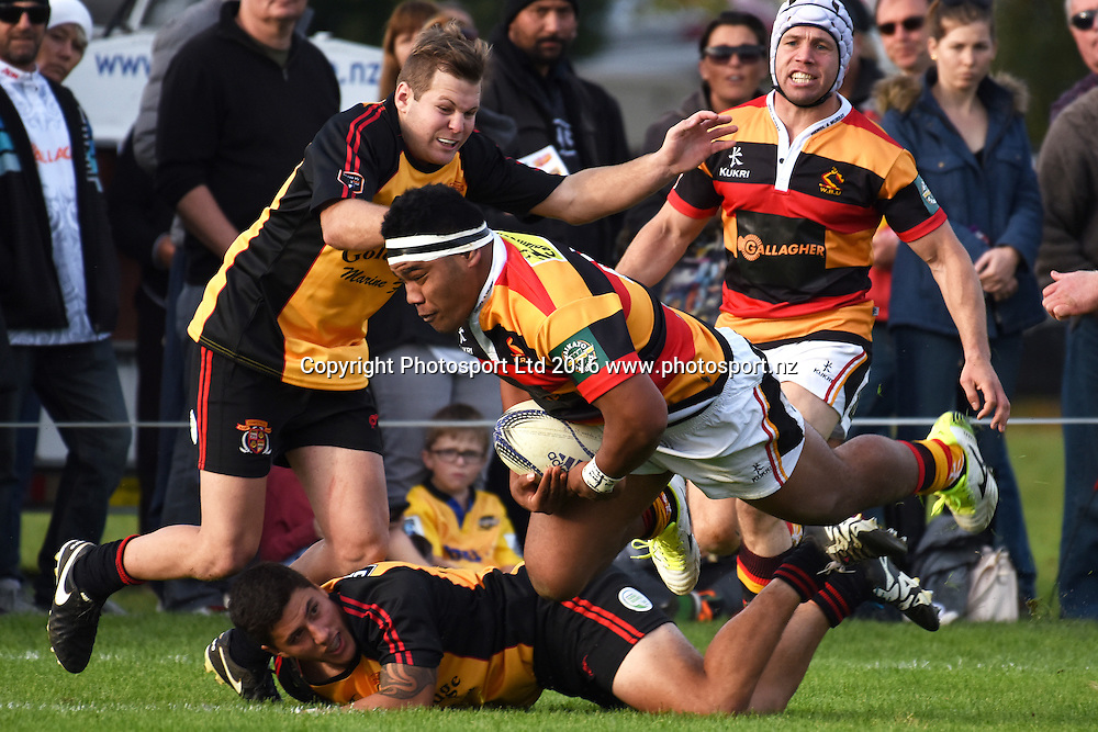 Samisoni Taukei'aho during the Ranfurly Shield match - Waikato vs Thames Valley at Paeroa Domain, Paeroa, New Zealand on the 6th June 2016. Photo: Jeremy Ward / www.photosport.nz