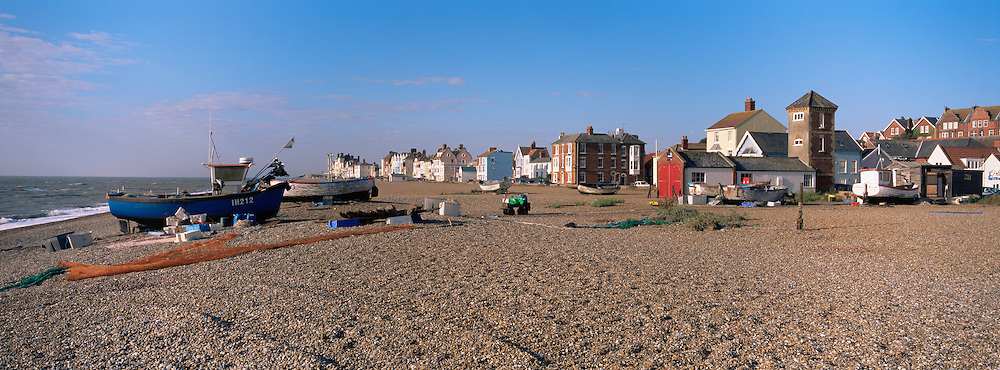 Great Britain England Suffolk East Anglia Aldeburgh Beach Scenic Panorama