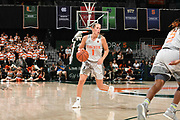 January 20, 2019: Laura Cornelius #1 of Miami in action during the NCAA basketball game between the Miami Hurricanes and the North Carolina Tar Heels in Coral Gables, Florida. The 'Canes defeated the Tar Heels 76-68.