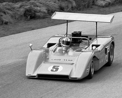 McLaren M8Bs at 1969 Elkhart Lake Can-Am; PHOTO BY Pete Lyons 1969 / © 2014 Pete Lyons/www.petelyons.com