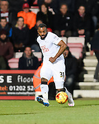 Darren Bent sets up the Derby County equalising goal during the Sky Bet Championship match between Bournemouth and Derby County at the Goldsands Stadium, Bournemouth, England on 10 February 2015. Photo by David Charbit.