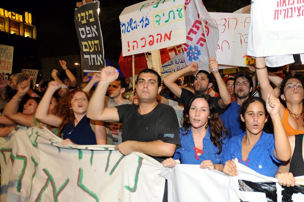 Stav Shaffir on Housing Protests 2011. Photo by Gili Yaari