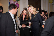 BRENT HOBERMAN; CAROLINE DE ROSNAY; SABINA MACTAGGART, Kate Reardon and Michael Roberts host a party to celebrate the launch of Vanity Fair on Couture. The Ballroom, Moet Hennessy, 13 Grosvenor Crescent. London. 27 October 2010. -DO NOT ARCHIVE-© Copyright Photograph by Dafydd Jones. 248 Clapham Rd. London SW9 0PZ. Tel 0207 820 0771. www.dafjones.com.