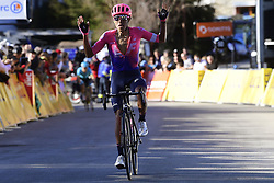 March 16, 2019 - Col De Turini, France - MARTINEZ POVEDA Daniel Felipe (COL) of EF EDUCATION FIRST celebrates the win during stage 7 of the 2019 Paris - Nice cycling race with start in Nice and finish in Col de Turini  on March 16, 2019 in Col De Turini, France, (Credit Image: © Panoramic via ZUMA Press)