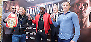 Floyd Mayweather Jr & Frank Warren press conference at The Savoy Hotel, London, Great Britain <br /> 7th March 2017 <br /> <br /> <br /> Leonard Ellerbe <br /> (CEO of Mayweather Promotions)<br /> <br /> Gervonta Davis <br /> (an American professional boxer who has held the IBF junior lightweight title since January 2017)<br /> <br /> <br /> Floyd Joy Mayweather Jr. is an American former professional boxer who competed from 1996 to 2015 and currently works as a boxing promoter. <br /> <br /> Frank Warren <br /> Boxing Promoter <br /> 
