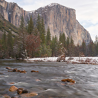 El Capitan and Merced River from Valley View. Yosemite National Park, CA