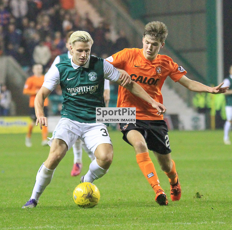 Hibernian V Dundee United Scottish League Cup Quarter Final 4th November 2015; Hibernian's Jason Cummings during the Hibernian V Dundee United League Cup Quarter Final tie, played at Easter Road Stadium, Edinburgh.