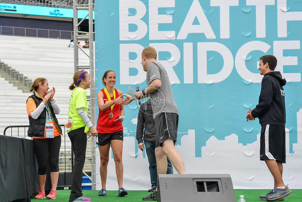 33rd Annual Nordstrom Beat the Bridge Run award winners - women's division.