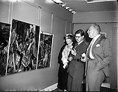 1955 - Exhibition of paintings by English artist Barrie Cooke at the Little Theatre, Brown Thomas