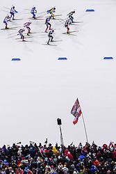 March 16, 2019 - –Stersund, Sweden - 190316 Spectators watch the start of the Men's 4x7,5 km Relay during the IBU World Championships Biathlon on March 16, 2019 in Östersund..Photo: Petter Arvidson / BILDBYRÃ…N / kod PA / 92269 (Credit Image: © Petter Arvidson/Bildbyran via ZUMA Press)