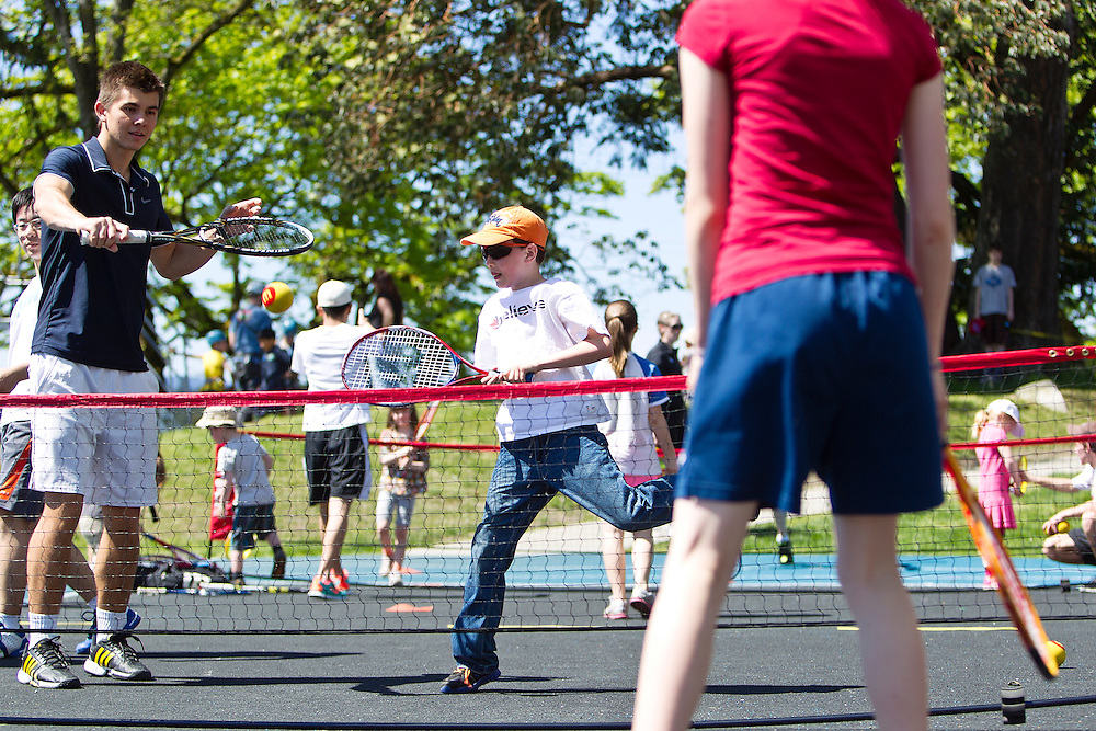 Kids play at the Island Savings Family Sport & Recreation Festival hosted by the Pacific Institute for Sport excellence May 4th,2013 in Victoria British Columbia, Canada(Kevin Light Photography)....