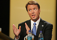 27 August 2007: Democratic presidential hopeful John Edwards answers a question at the LIVESTRONG Presidential Cancer Forum in Cedar Rapids, Iowa on August 27, 2007.