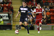 Picture by David Horn/Focus Images Ltd +44 7545 970036.21/08/2012.Dean Cox of Leyton Orient chases James Dunne of Stevenage during the npower League 1 match at the Matchroom Stadium, London.