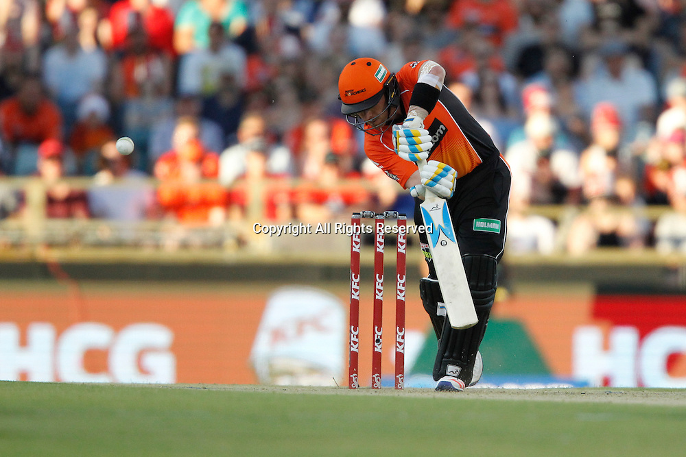 23.12.2016. WACA Ground, Perth, Australia. BBL Cricket League. Perth Scorchers versus Adelaide Strikers. Ian Bell plays on the off side during his innings.