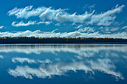 Clouds reflected in Kenogamisis Lake<br />