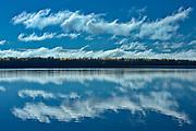 Clouds reflected in Kenogamisis Lake<br />Geraldton<br />Ontario<br />Canada