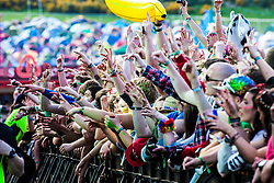 "Saturday at Rockness 2013, the annual music festival which took place in Scotland at Clune Farm, Dores, on the banks of Loch Ness, near Inverness in the Scottish Highlands. The festival is known as ""the most beautiful festival in the world"" ."