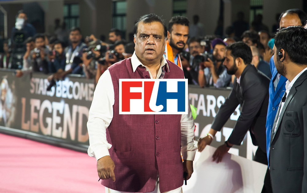 BHUBANESWAR - Hockey World League finals Match for bronze , Germany v India (1-2). FIH president Batra COPYRIGHT KOEN SUYK