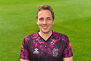 Head shot of Josh Davey in the Vitality Blast kit during the 2019 media day at Somerset County Cricket Club at the Cooper Associates County Ground, Taunton, United Kingdom on 2 April 2019.