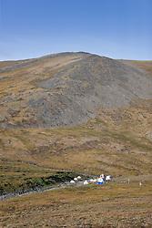 Pika Camp, an alpine research field camp in the Ruby Range near Kluane Lake Research Station, Yukon