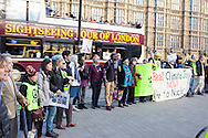 Fukushima anti- nuclear demonstration outside Houses of Parliament