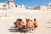Daily life at the San Francesco beach in Bari on 3 August 2019. Christian Mantuano / OneShot