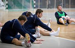 Bostjan Kavas at Open training session for the public of Slovenian handball National Men team before European Championships Austria 2010, on December 27, 2009, in Terme Olimia, Podcetrtek, Slovenia.  (Photo by Vid Ponikvar / Sportida)
