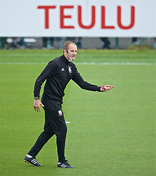 NEWPORT, WALES - Saturday, May 25, 2019: Dave Adams gives a practical demonstration of Skill Acquisition during day two of the Football Association of Wales National Coaches Conference 2019 at Dragon Park. (Pic by David Rawcliffe/Propaganda)