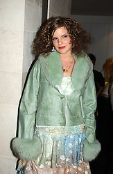 KATE SUMNER daughter of singer Sting at a fashion show of the new fashion label Chester Bonham held at the Aston Martin Showroom, Park Lane, London on 15th November 2004.<br /><br />NON EXCLUSIVE - WORLD RIGHTS