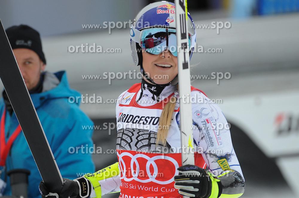 07.02.2016, Kandahar, Garmisch Partenkirchen, GER, FIS Weltcup Ski Alpin, Garmisch Partenkirchen, Super G, Damen, im Bild Lindsey Vonn (USA 3.Platz) // Lindsey Vonn of the USA (third place) reacts after her run of the ladies Super G of Garmisch FIS Ski Alpine World Cup at the Kandahar in Garmisch Partenkirchen, Germany on 2016/02/07. EXPA Pictures © 2016, PhotoCredit: EXPA/ Erich Spiess