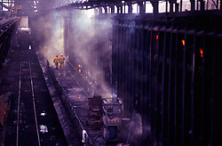 Steel Mill Furnace Platform Workers