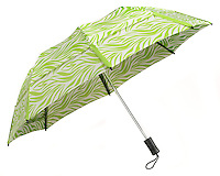 white umbrella with a spring grass pattern Green and white dinner tray