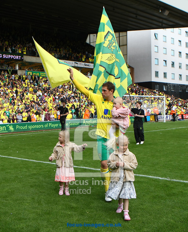Picture by Paul Chesterton/Focus Images Ltd.  07904 640267.13/05/12.Grant Holt of Norwich and his daughters after the Barclays Premier League match at Carrow Road Stadium, Norwich.