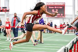 womens 60 meters hurdle, UMass Amherst, heat 3<br /> BU John Terrier Classic <br /> Indoor Track & Field Meet
