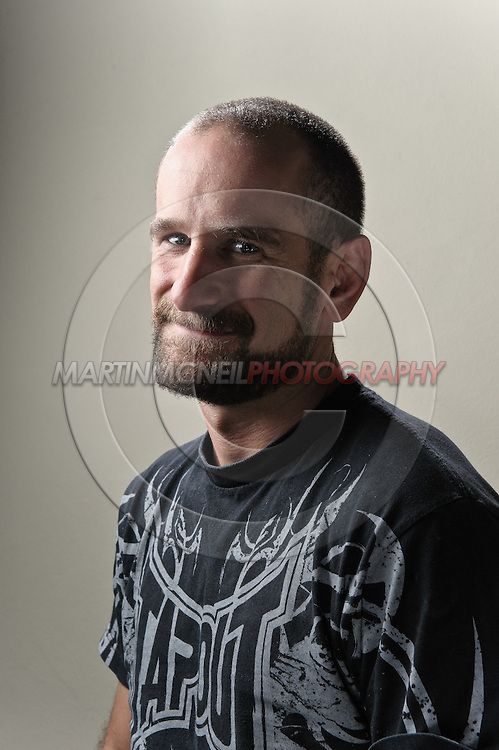 A portrait of mixed martial arts coach and trainer Greg Jackson