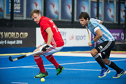 England's David Goodfield. England v Argentina - Hockey World League Semi Final, Lee Valley Hockey and Tennis Centre, London, United Kingdom on 18 June 2017. Photo: Simon Parker