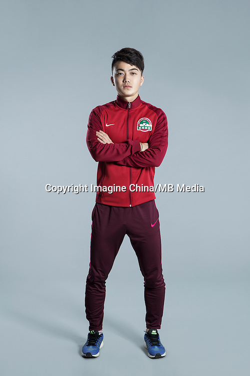 Portrait of Chinese soccer player Yuan Ye of Henan Jianye F.C. for the 2017 Chinese Football Association Super League, in Zhengzhou city, central China's Henan province, 19 February 2017.