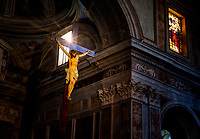 &ldquo;Heavenly rays of light illuminate the crucifix - Cathedral of Sorrento&rdquo;&hellip;<br />