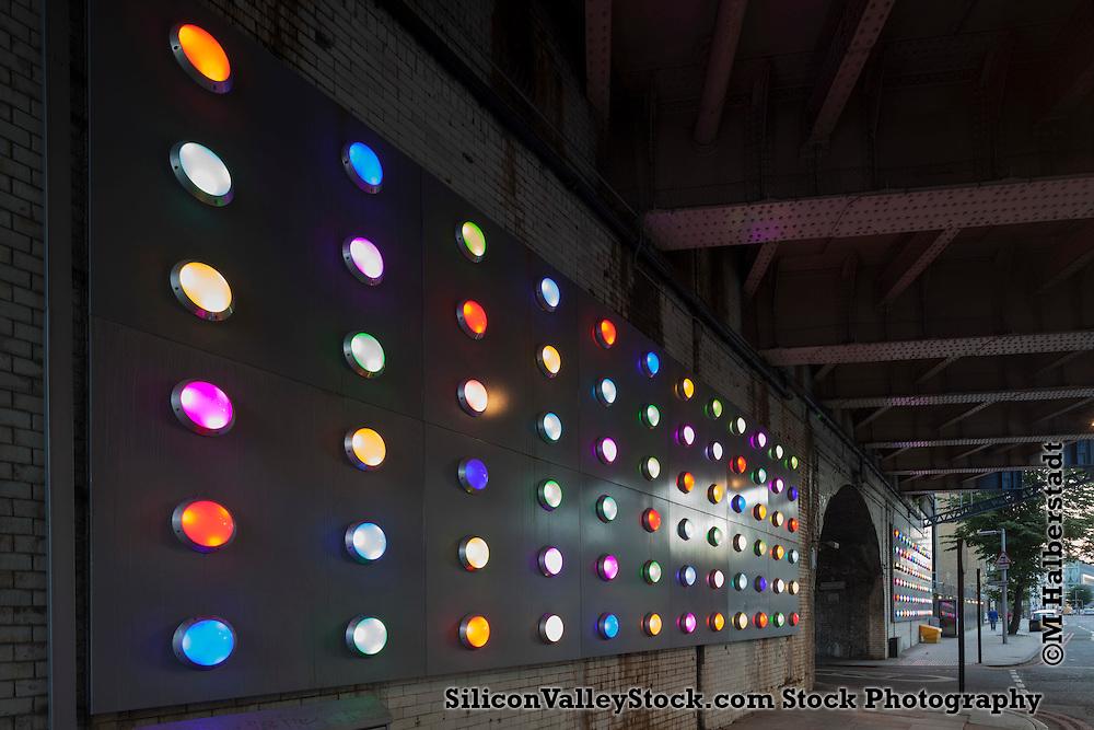 Southwark Street bubble wrap lighting