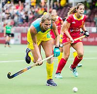 BRUSSEL - Madison Fitzpatrick (Aus.)  and Maria LOPEZ (SPA)    during AUSTRALIA v SPAIN , Fintro Hockey World League Semi-Final (women) . COPYRIGHT KOEN SUYK