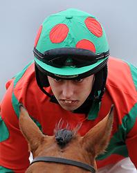 Jockey Killian Moore  - Photo mandatory by-line: Harry Trump/JMP - Mobile: 07966 386802 - 09/03/15 - SPORT - Equestrian - Horse Racing - Taunton Racing - Taunton Racecourse, Somerset, England.
