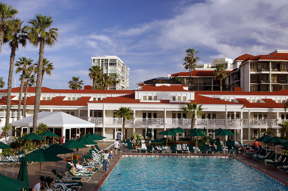 Pool and Hotel del Coronado, Coronado Beach, San Diego, California, United States of America